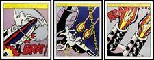 "ROY LICHTENSTEIN - ""As I Opened Fire""- Set de trois lithographies  - Limitée"