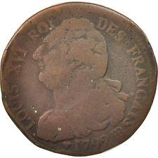 Monnaies, France, 2 sols français, 2 Sols, 1792, Strasbourg, B, Bronze #18874