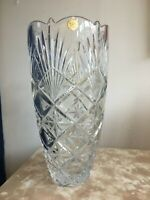 "Signed ""Bohemia"" Crystal Glass Vase Czech"