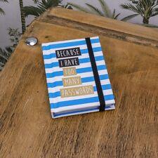 Silla de cubierta libro de contraseña Almohadilla De Bolsillo Mini Pequeño Bolso recordatorio Nuevo