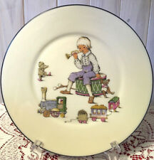 Lenox Giftware-Child Plate-Boy w/Horn & Toys Sitting on Drum w/Platinum Trim-Usa