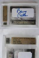 2008-09 Famous Fabrics Cullen Barry 1/1 paper cut auto Toronto Maple Leafs 1 of1