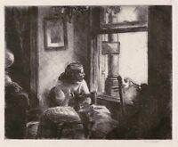East Side Interior : Edward Hopper  :  Etching :  Archival Quality Art Print