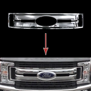 2017-2019 Ford F250 F350 F450 XL CHROME Snap On Grille Overlay Full Grill Covers