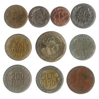 10 COINS FROM COLOMBIA OLD COLLECTIBLE COINS SOUTH AMERICA COLOMBIAN PESOS