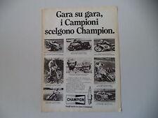advertising Pubblicità 1982 CHAMPION e ANDRE' MALHERBE/KURT WALTISPERG/NIETO