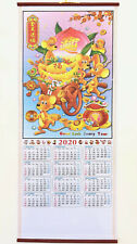 2020 Chinese Year of the Rat Calendar Wall Scroll #707