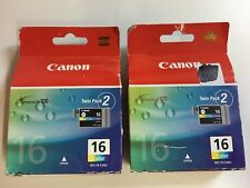 2 X packets of Cannon Ink Cartridge  16 Black BCI-16 Color  (Past used by date)