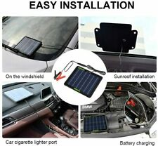 Emergency Solar Powered Panel Battery Charger Backup 12V 5W Car RV Tractor Boat