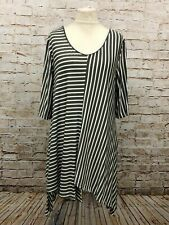 Moonshine Fashion Streifen Tunika Shirt Lagenlook Übergröße 44 46 48 Neu grün