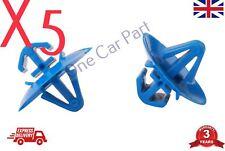 5 X BLUE DOOR TRIM BUMPER PLASTIC SIDE MOULDING CLIPS FOR RENAULT VAUXHALL