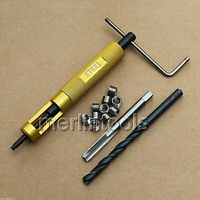 M6 x 1 Thread Repair Kit Tap and Drill bit Helicoil Insert Insertion tool