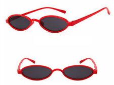 Mohawk Mini Ovalado Retro Acrílico Gafas de sol REDE con Gris lentes UV400 y188