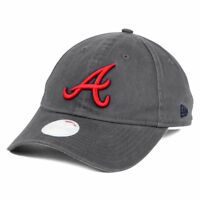 official photos 0081e e05c9 Atlanta Braves MLB Womens Preferred Pick Gray Baseball Hat Cap Adjustable  Ladies