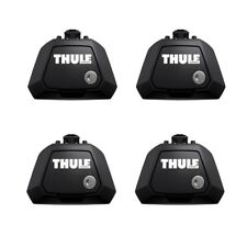 Thule 7104 EVO Raised Rail Roof Bar Foot Pack SET - Cars with Roof Railings ONLY