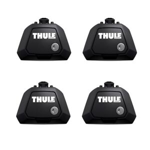 Thule 710410 Evo Raised Rail Foot Pack / Footpack (Set of 4 Feet) includes Locks
