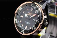 """Invicta Men's 49mm Pro Diver """"BlackHawk"""" Black Rose Gold Quartz TT SS Watch"""