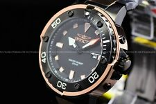 "Invicta Men's 49mm Pro Diver ""BlackHawk"" Black Rose Gold Quartz TT SS Watch"