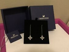 Swarovski Sparkling Dance Star Rhodim Pierced Earrings