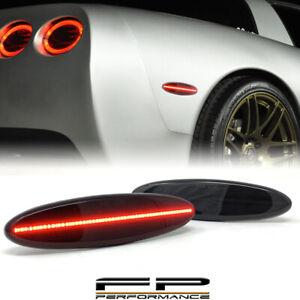 For 1997-2004 Chevrolet Corvette C5 Smoked LED Rear Side Marker Light Lamp Red