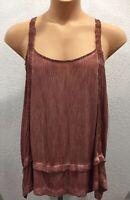 KNOX ROSE Tunic Shirt Top Sleeveless Rose Mauve boho XXL