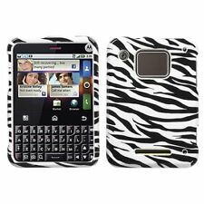 Zebra Hard Case Snap on Cover for Motorola Charm MB502