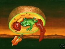 Lee CHRISTOPHERSON Frog in a Cantaloupe Giclee Print