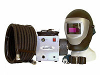 Supplied air respirator w/auto darkening welding helmet