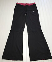 ADIDAS Womens Size Medium Activewear Pants Dark Pink/Black