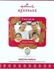 Nuestra Familia Picture Frame Dated Hallmark Keepsake 2017 Christmas Ornament