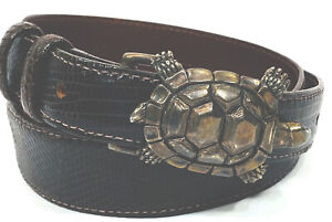 Sterling Silver Turtle .925 Lizard Belt Alexander's Belts 26 and Buckles USA