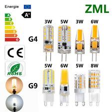 3W 5W 6W 8W G4 G9 Silicona Cristal Led Mazorca Bombilla COB SMD Blanco Lámpara
