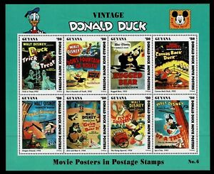 GUYANA - 1994 DONALD DUCK MOVIE POSTERS - UHM - Sc#2775 - DIS 37