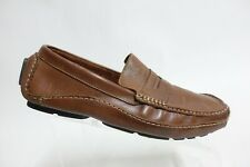 CLARKS ENGLAND Mansell Brown Sz 10 M Men Leather driving Moccasin Loafers
