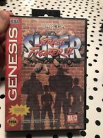 Super Street Fighter II Sega Genesis Original OEM Authentic Complete!  Tested