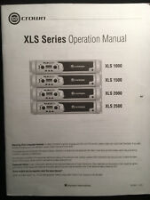 Crown XLS Series Power Amps - Operation Manual
