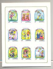 Grenada Grenadines #580-589 Disney Easter 9v & 1v S/S Imperf Proofs in Folder