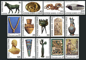 Cyprus 538-551, MNH. Archaeological Finds on cyprus, 1980