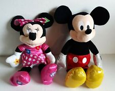 Disney Talking Minnie Mouse Plush Learning Toy & Mickey Mouse Sparkle Plush