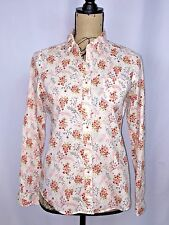 Heritage 1981 Womens Blouse Button Front Casual Floral Shirt Top Size Small