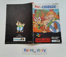 Super Nintendo SNES Astérix & Obélix Notice / Instruction Manual
