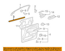 JAGUAR OEM X-Type Front Door Window Sweep-Belt Molding Weatherstrip C2S38974