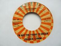 """FRANKIE LYMON I'm Not Too Young To Dream/Share USA 7"""" Single EX Cond"""