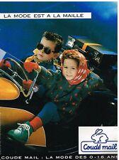 Publicité Advertising 1987 Les Vetements pour enfants Coudé mail