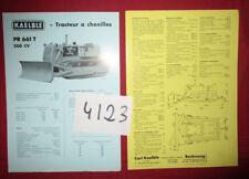 N°4123  / KAELBLE : prospectus en français tracteur à chenilles   1.61