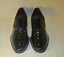 Nunn Bush Vintage Black Patent Leather Slip On Dress Shoes-Sz-10C