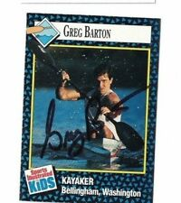 Greg Barton USA Kayaker Signed SI For Kids Magazine Card W/Our COA