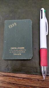 petit agenda 1939 tres bon état vide