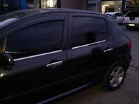2001Up Peugeot 307 Chrome Windows Frame Trim Cover 4Pcs 4Door S.STEEL