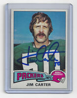 1975 PACKERS Jim Carter signed card Topps #19 AUTO Autographed Green Bay